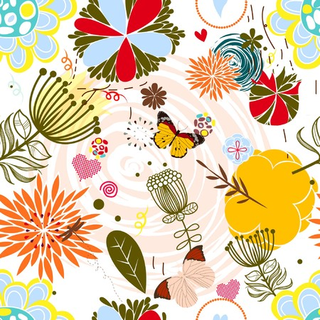 Floral seamless pattern in retro style Stock Vector - 7362049