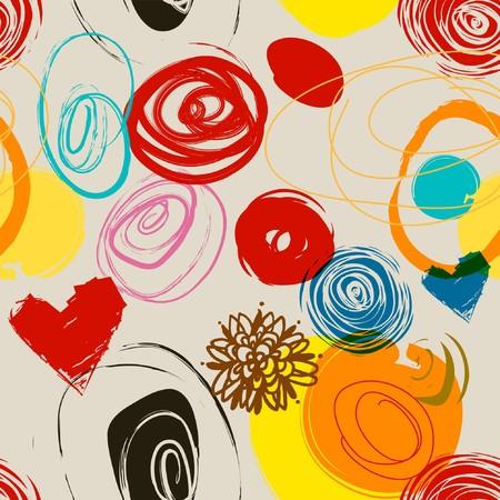 Floral patrón sin problemas en estilo retro Foto de archivo - 7362042