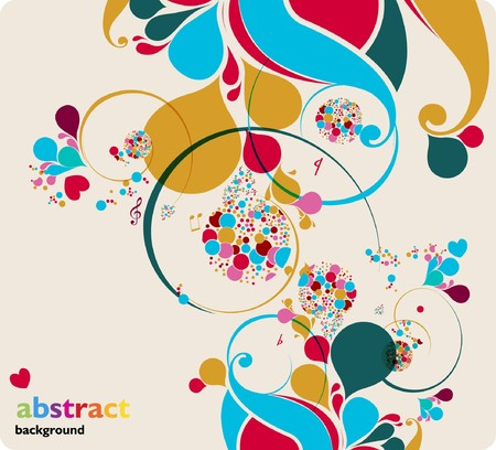 music background Stock Vector - 7362034