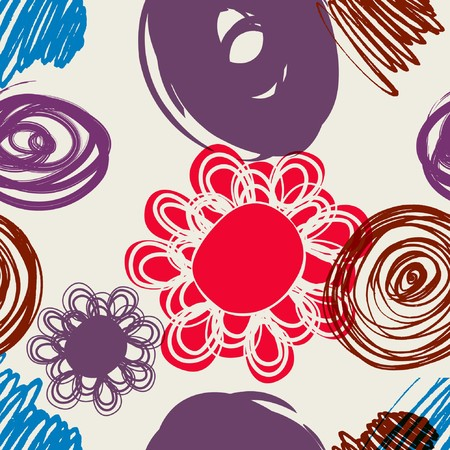 Floral seamless pattern in retro style Stock Vector - 7668207