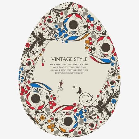 rattan: vintage flower-egg