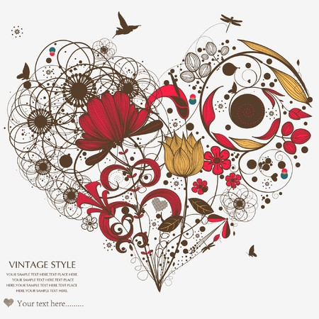 love wallpaper: vintage flower-love