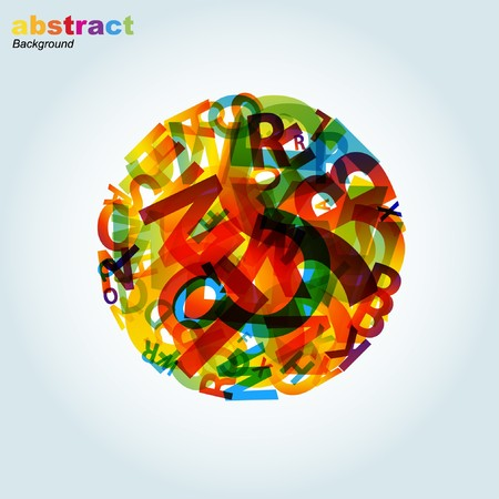 colorful straw: abstract background Illustration