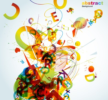 colorful straw: Abstract colorful background.  Illustration