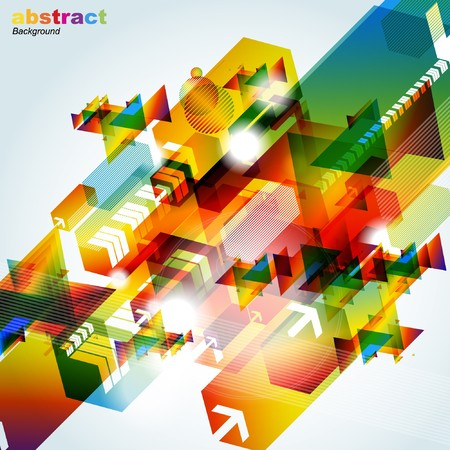 Abstract colorful background.  Stock Vector - 7668112