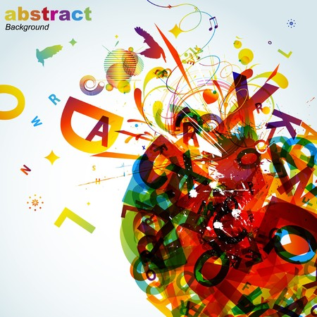 Abstract colorful background.  Stock Vector - 7667983