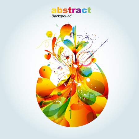 vintagern: Abstract colorful background. Vector.