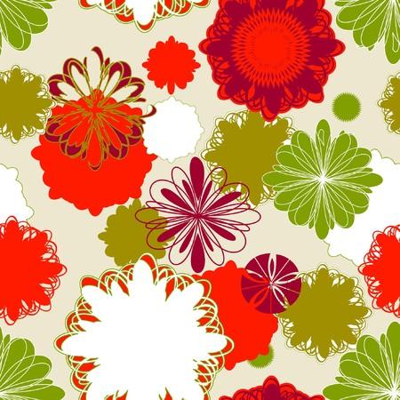 vintagern: Retro Floral (Seamless Pattern)