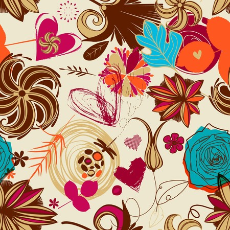 Floral seamless pattern in retro style Stock Photo - 7668024