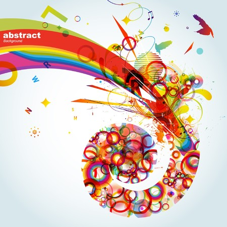 Abstract colorful background. Vector. Stock Photo - 7668010