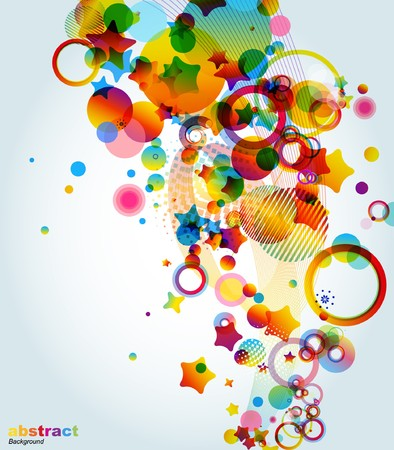 Abstract colorful background. Vector. Stock Photo - 7668011