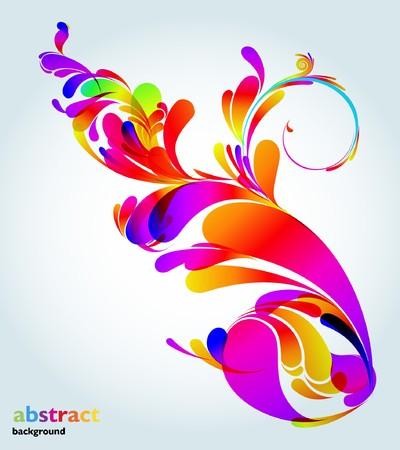 fresh water splash: Abstrakt colorful Background.