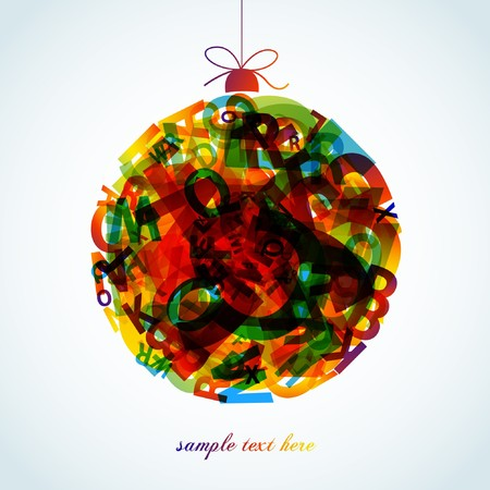 glob: Abstract colorful background-xmas