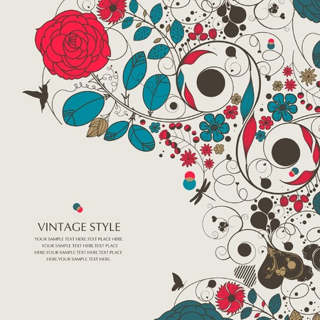flower-love 向量圖像