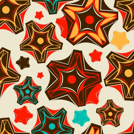 vintagern: Floral seamless pattern in retro style  Illustration