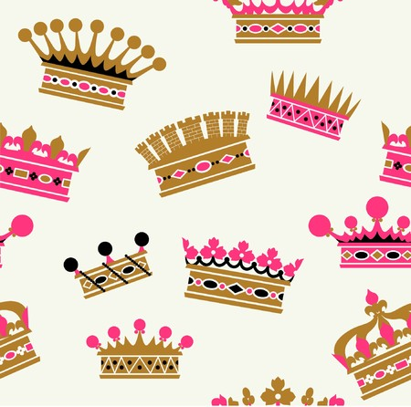 old-fashioned crown sets Vector
