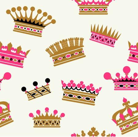 vintagern: old-fashioned crown sets Illustration