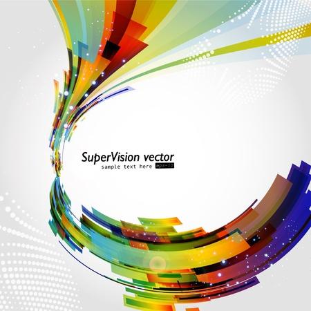 Fondo multicolor abstracta. Vector.