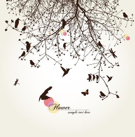 tree of life silhouette: tree