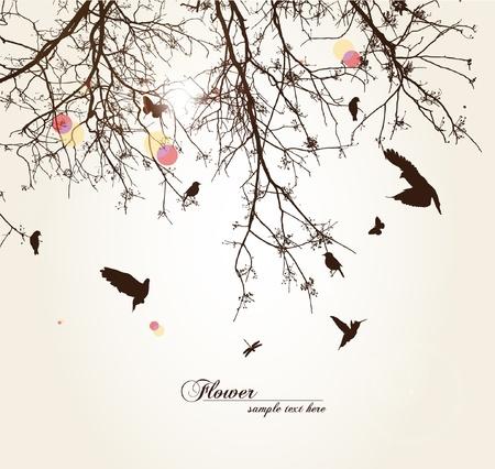 bird and tree: tree
