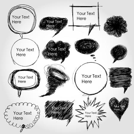 converse: Vector Comical Sprechblasen