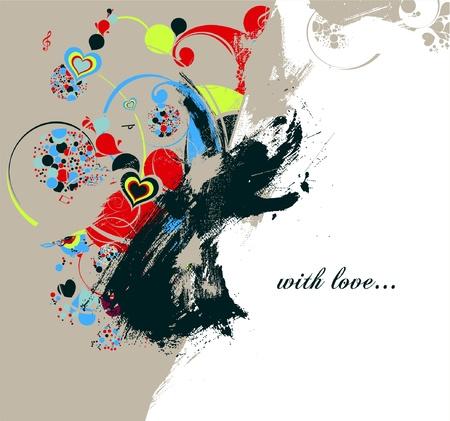 love background 向量圖像