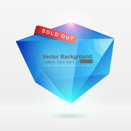 Abstract origami speech bubble vector background Stock Vector - 8857987