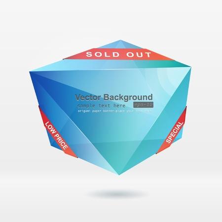 Abstract origami speech bubble vector background Stock Vector - 8857982