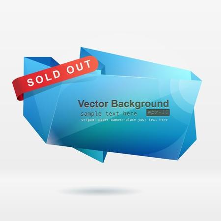 Abstract origami speech bubble vector background Stock Vector - 8857988