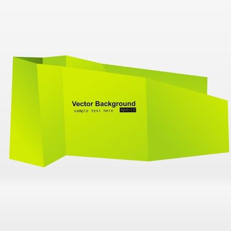 Abstract origami speech bubble vector background  Stock Vector - 8857980