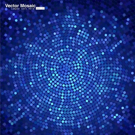 mosaic tiles: vector mosaic