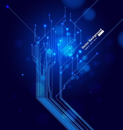 neon wallpaper: Vector circuito stampato Vettoriali
