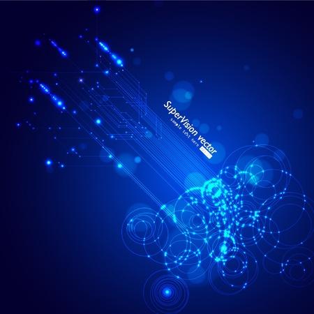 glow in the dark: Vector Circuit Board
