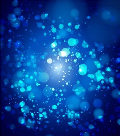 blinking: blue bokeh abstract light background. Vector illustration