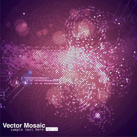 electronical: vector mosaic