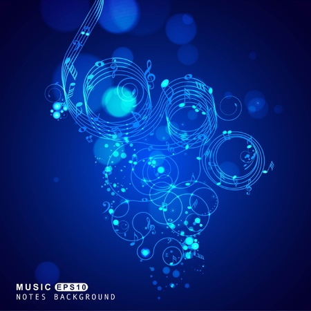 Music set of design elements  Vector