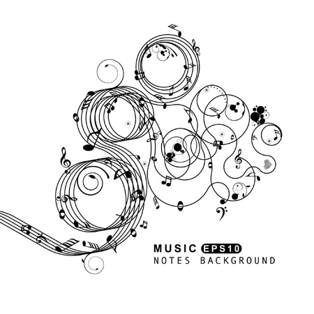 stave: Music set of design elements  Illustration