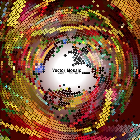 pixelated: vector mosaic