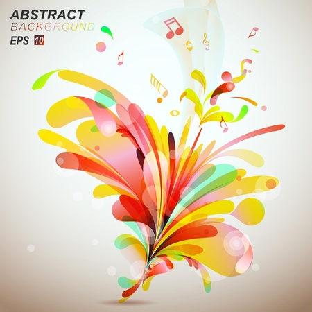 retro music: Abstract Background Vector-nusic