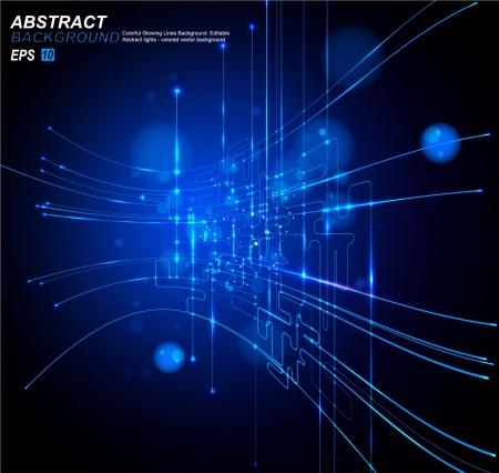 circuitos electronicos: Vector de fondo abstracto