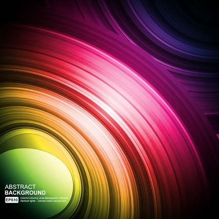 Smooth colorful abstract fantasy background  Vector
