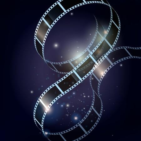 esporre: Film strip vettore sfondo Vettoriali
