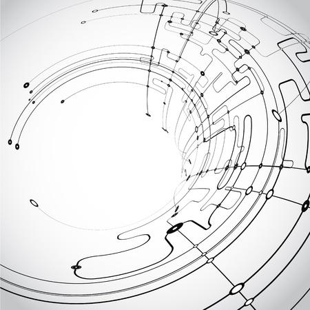 circuitboard: Vettore sfondo astratto Vettoriali