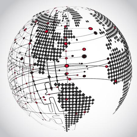 Zusammenfassung Hintergrund Vektor-Erde