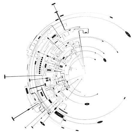 circuitos electronicos: Resumen Antecedentes Foto de archivo