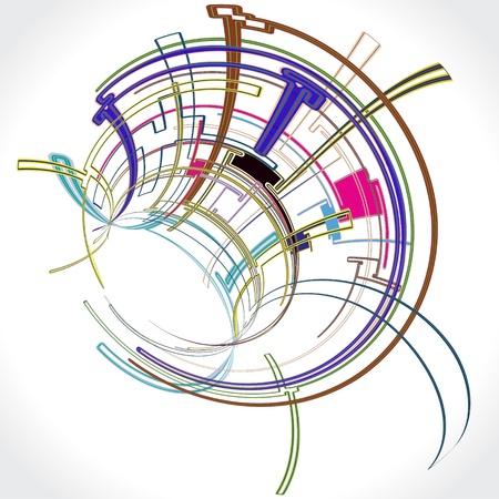 Abstrakte Hintergrund Illustration