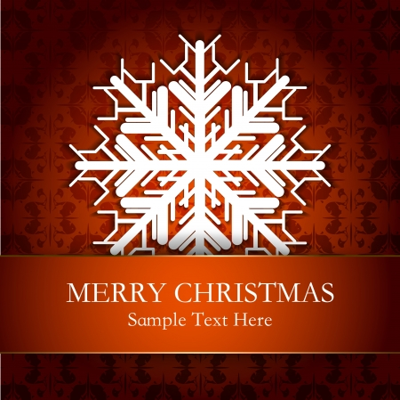 Abstract design with snowflakes and space for text Stock Vector - 17259948