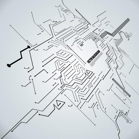 Resumen Antecedentes Ilustración de vector