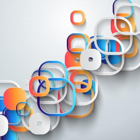 Abstracte 3D-papier Infographics