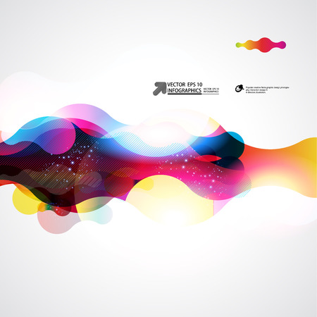 concept and ideas: abstract vector background Illustration